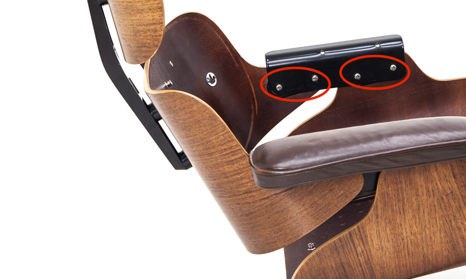 Replacement neoprene shock mounts for eames lounge chair 670 armrest ebay - Eames chair shock mounts ...