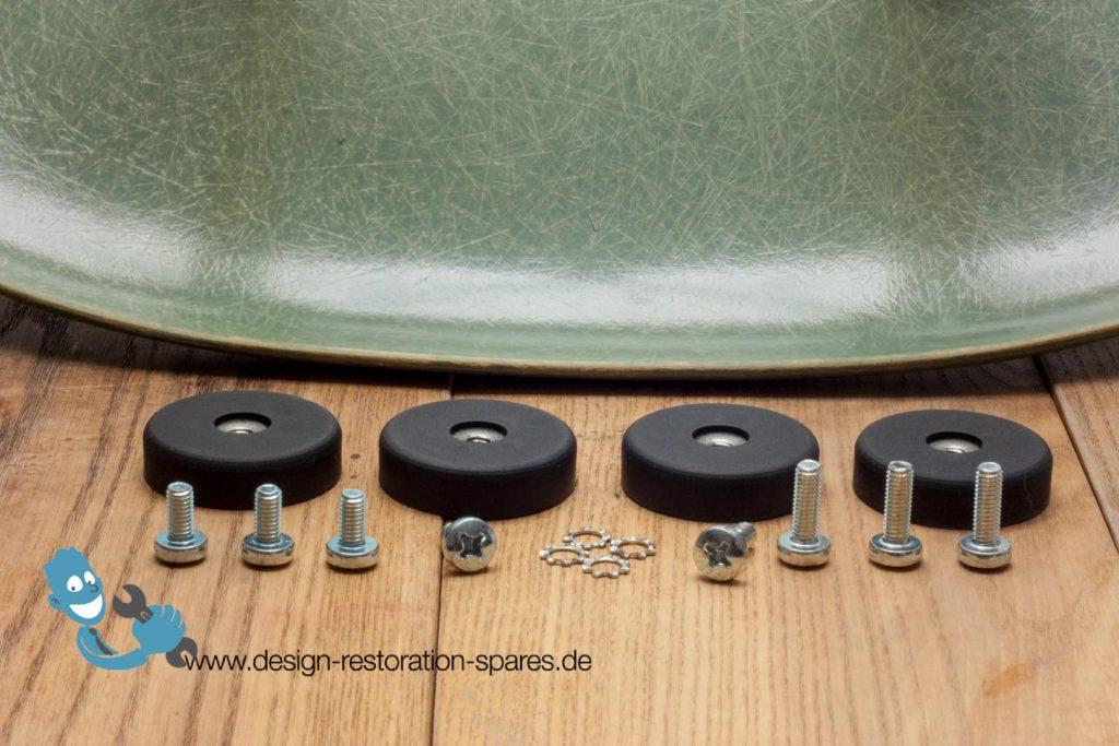 Replacement neoprene shock mounts for eames herman miller for Eames fibre de verre