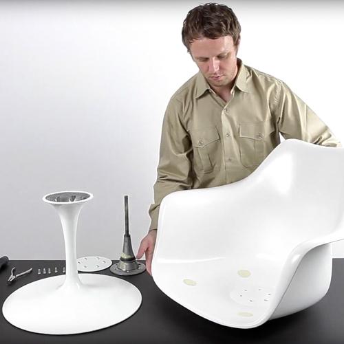 how to disassemble the eero saarinen tulip chair design