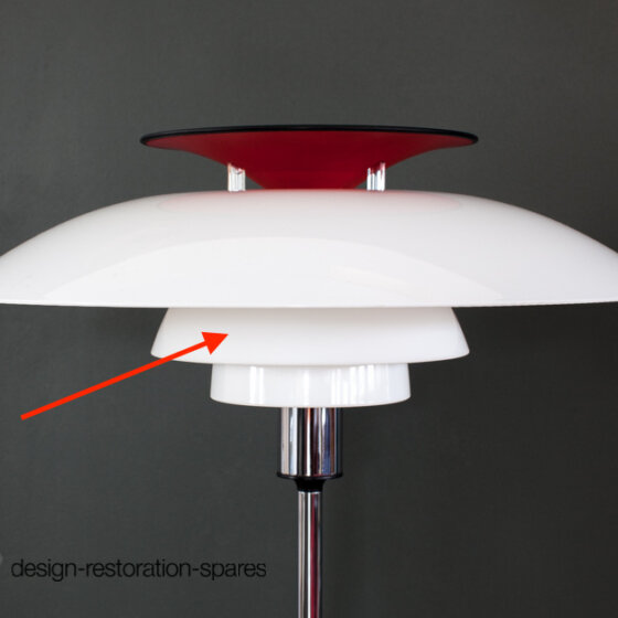 Center Lamp Shade | Louis Poulsen | Poul Henningsen | PH80 Floor Lamp